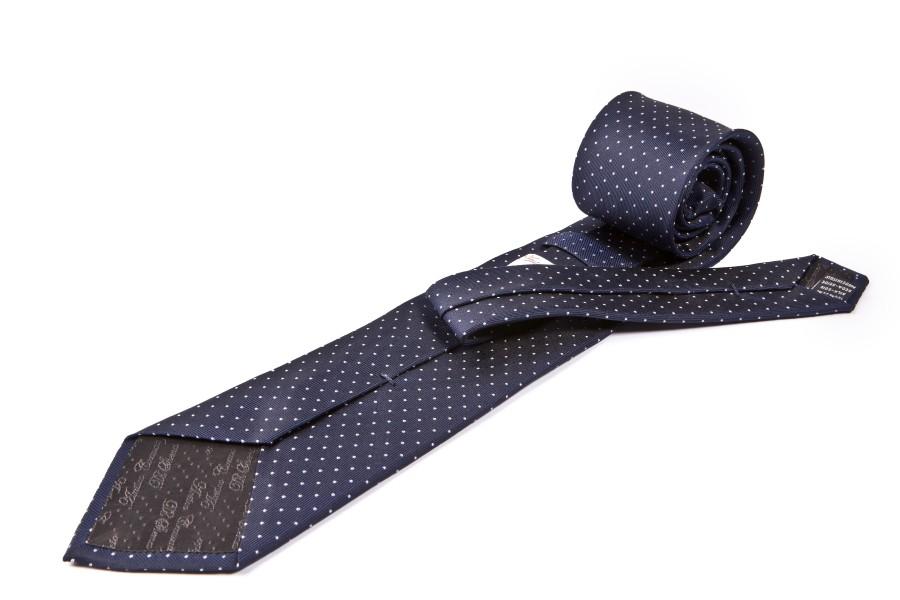 Cravatta blu puntini bianchi