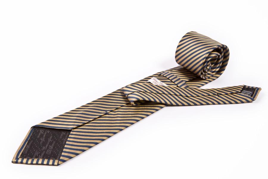 Cravatta gialla rigata