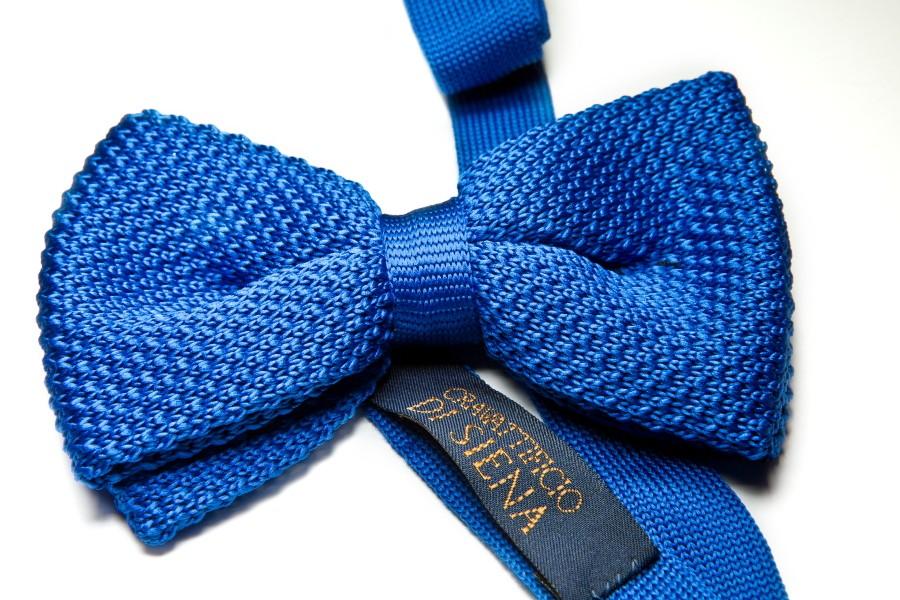 Papillon maglia blu royal