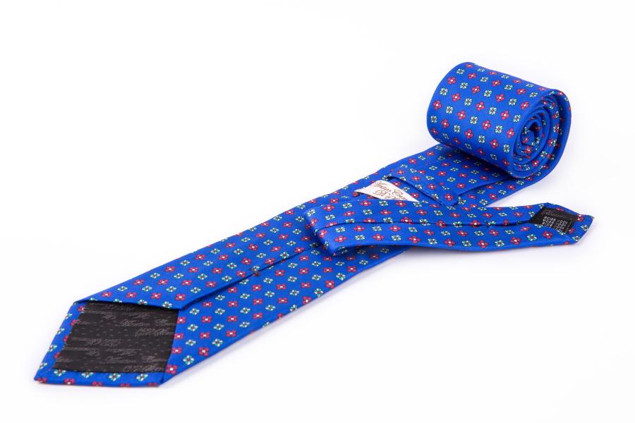 Cravatta di seta David azzurra
