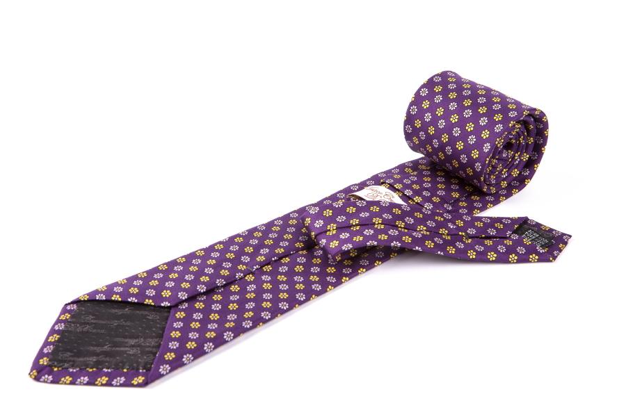 Cravatta di seta flores viola