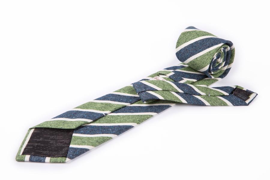 Cravatta regimental wash verde