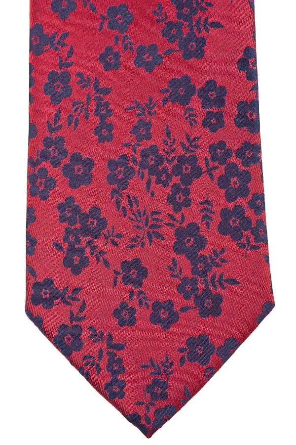 Cravatta rossa fiori