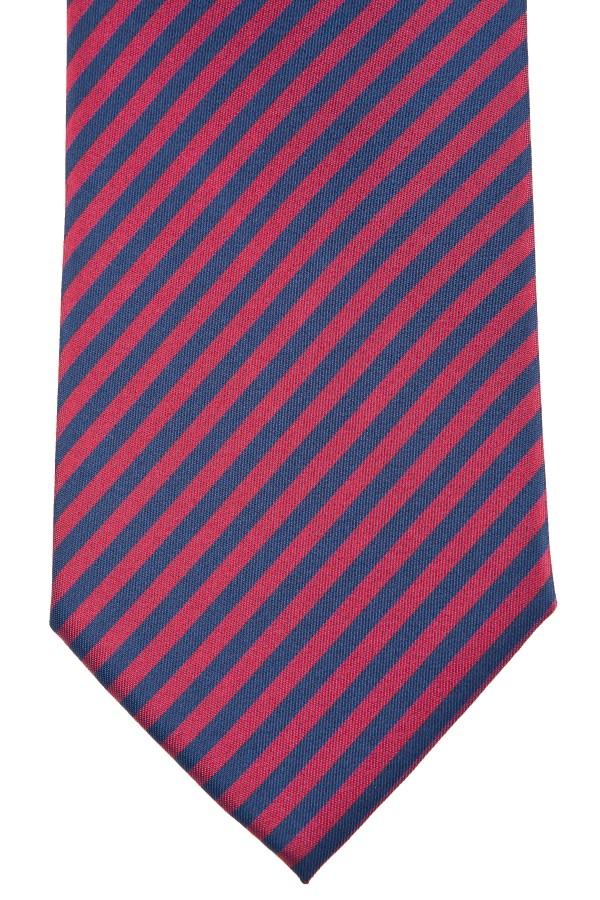 Cravatta rossa rigata