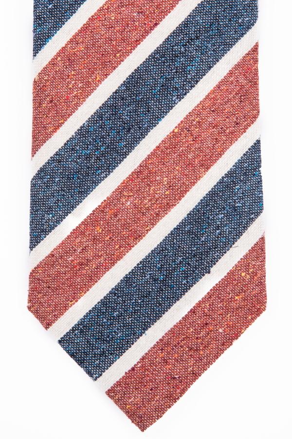 Cravatta regimental wash rossa
